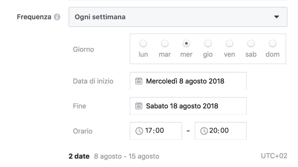 data evento facebook