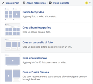 carosello dimensioni facebook