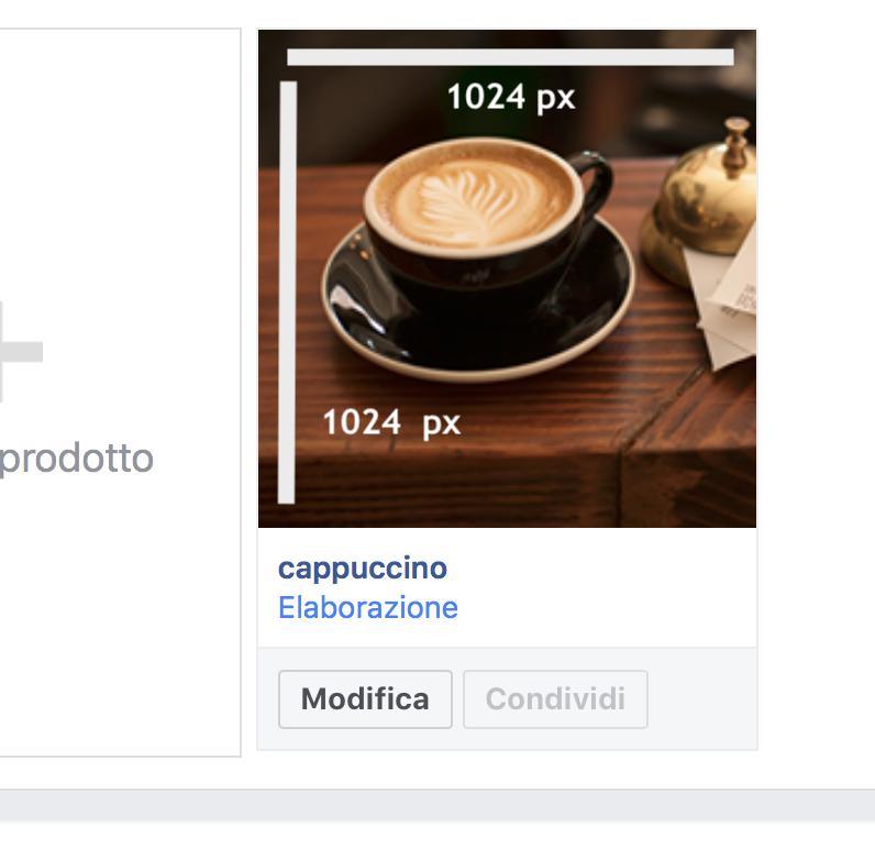 dimensioni anteprima prodotti vetrina facebook